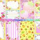 Pop Fruits Loose Memo Sheets by Q-lia Japan kawaii