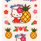 Sanrio Hello Kitty Pineapple Aloha Hawaii Sticker Sheet kawaii