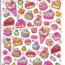 Ice Cream Desserts Sticker Sheet kawaii cake pvc stickers