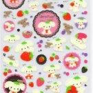 San-X Berry Puppy Sticker Sheet kawaii strawberries stickers