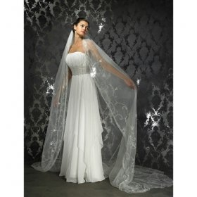 Empire Strapless Cathedral Train Satin Wedding Dresses