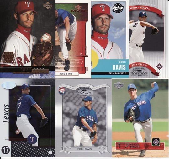 7 Different Doug Davis cards 00's-03's Arizona Diamondbacks