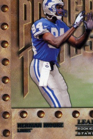 1998 Leaf Rookies and Stars Short Print Herman Moore card #256 Detroit Lions