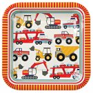 Meri Meri Big Rig Construction Birthday party plates(set of 12)