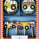 Meri meri Big rig Construction Birthday Party Cupcake Toppers Cupcake Set (set of 24)