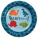 Roarrrr Dinosaur Birthday Party Dessert Plates (Set of 12)