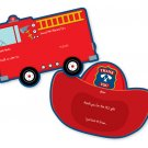 Fire Truck Birthday Party Invitations and Thank you Set
