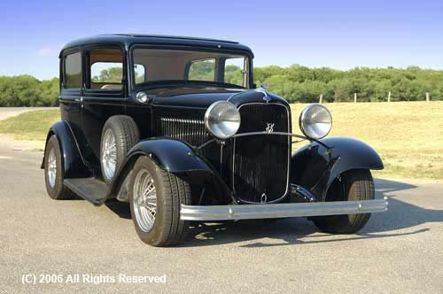 32 Ford Front View Giclee Art Print 12x16