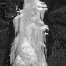 Ice Falls Black and White Giclee Art Print 12x16