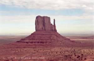 Alone in Monument Valley Giclee Art Print 12x16