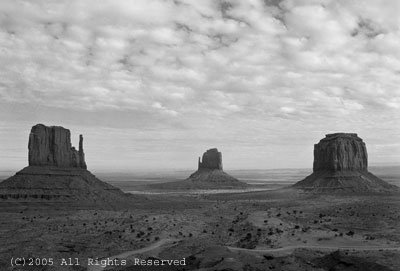 Alone in Monument Valley II BW Giclee Art Print 12x16