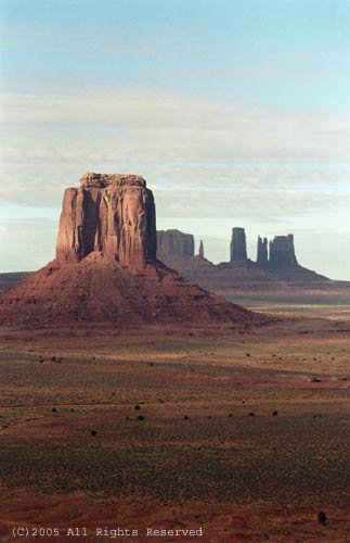 January Day in Monument Valley Giclee Art Print 12x16