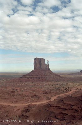 January Day Monument Valley II Giclee Art Print 12x16