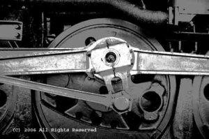 Steam Engine Giclee Art Print 12x16