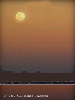 Moonrise in the Valley Giclee Art Print 12x16