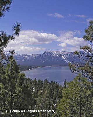 Lake Tahoe View Giclee Art Print 12x16