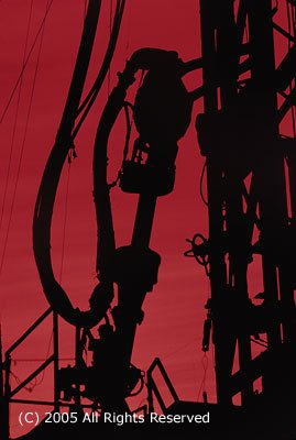 Red Silhouette Giclee Art Print 12x16