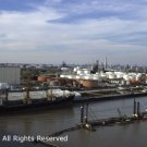 Ship Channel Refinery Giclee Art Print 12x16