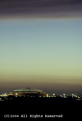 The Astrodome Giclee Art Print 12x16