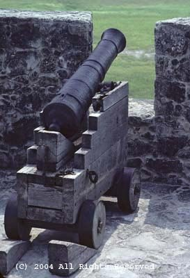 Cannon and Port Giclee Art Print 12x16