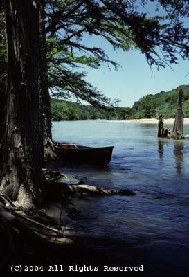 Canoe on the River Giclee Art Print 12x16