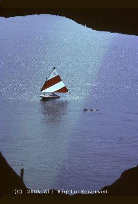 Sailing the Cove Giclee Art Print 12x16