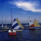 Clear Lake Bay Sailing Giclee Art Print 12x16