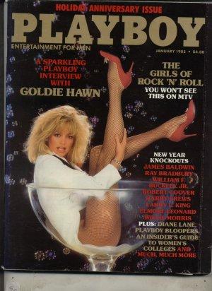 Playboy January 1985 Goldie Hawn Girls of Rock N Roll
