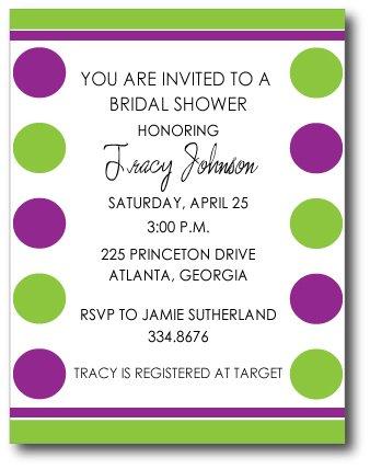 Party Dots Invitation/ Announcement
