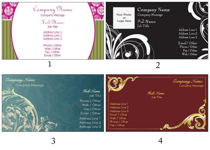 250 Elegant Calling Cards