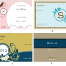100 Monogram Postcards