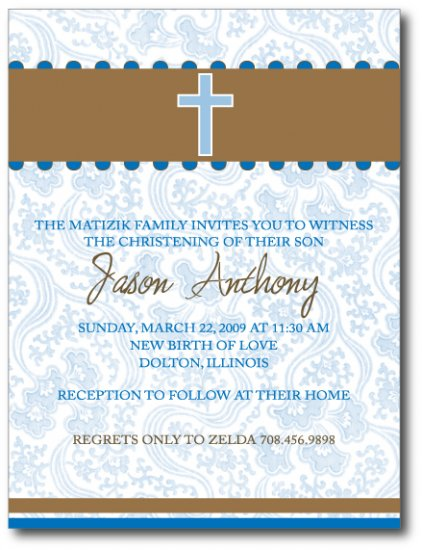 Baptism/Communion Invitation/ Announcement