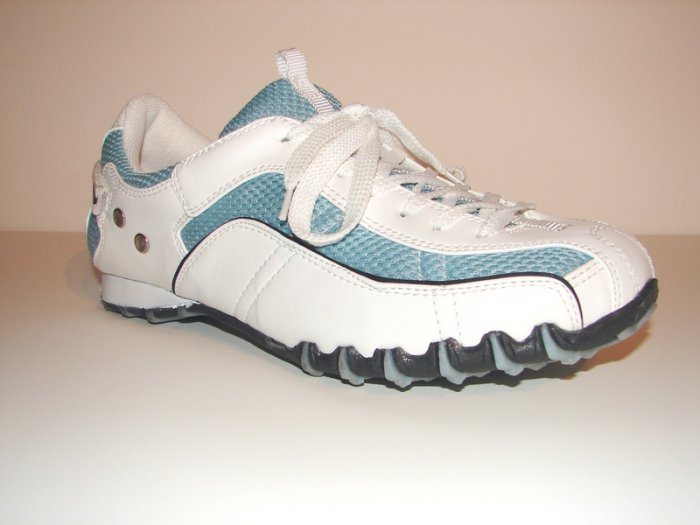 Baby Blue & White Casual Shoes