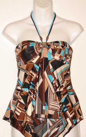 Women's Party Top - Turquoise & Blue