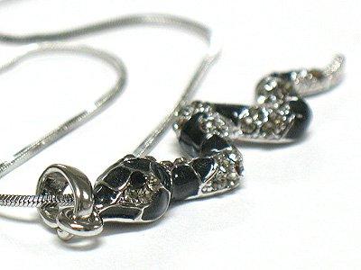 Crystal snake necklace(R1245BK-2994)