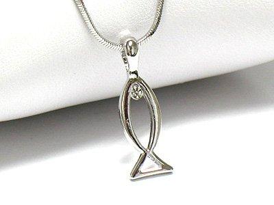 Designer style fish necklace(R1229SL-2511)