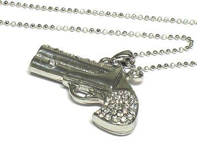 Crystal pistol necklace(N1245CL-11889)
