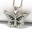 Onyx butterfly pendant necklace(E1267BK-121963)