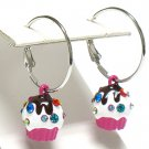 Ice cream cup earring(R966FS-3472)