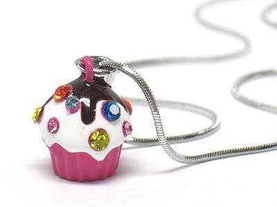Ice cream cup necklace(E125FS-1218123)