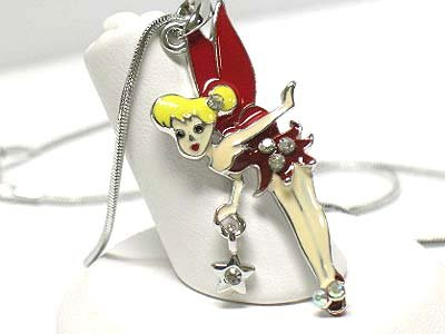 Tinker bell necklace(E1237RD-112406)