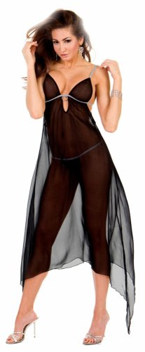 Long sheer nightgown(80709SM)
