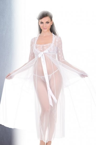 Long sheer gown set(80663SM)