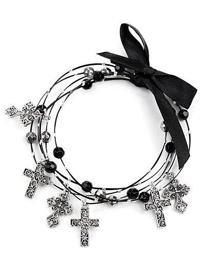 Multi strand wire cross bracelets(b1056jtlf_38HD)