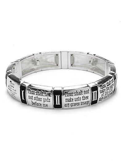 10 commandments stretch bracelet.( b1489lfas_4HD)