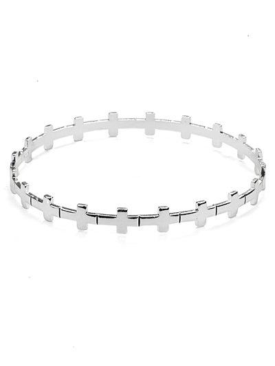 Cross link bangle bracelet(b21899ats_28HD)