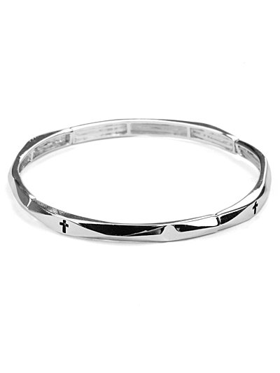 Stretch bracelet with crosses(b21873ats_28HD)