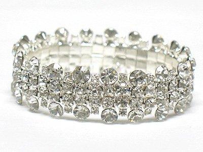 Rhinestone stretch bracelet(L1161SL-32592)