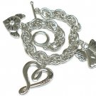 Heart and angel charm dangle bracelet(J1137SL-32517)