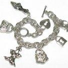 Women's fashion toggle chram bracelet(J1161SL-32516)